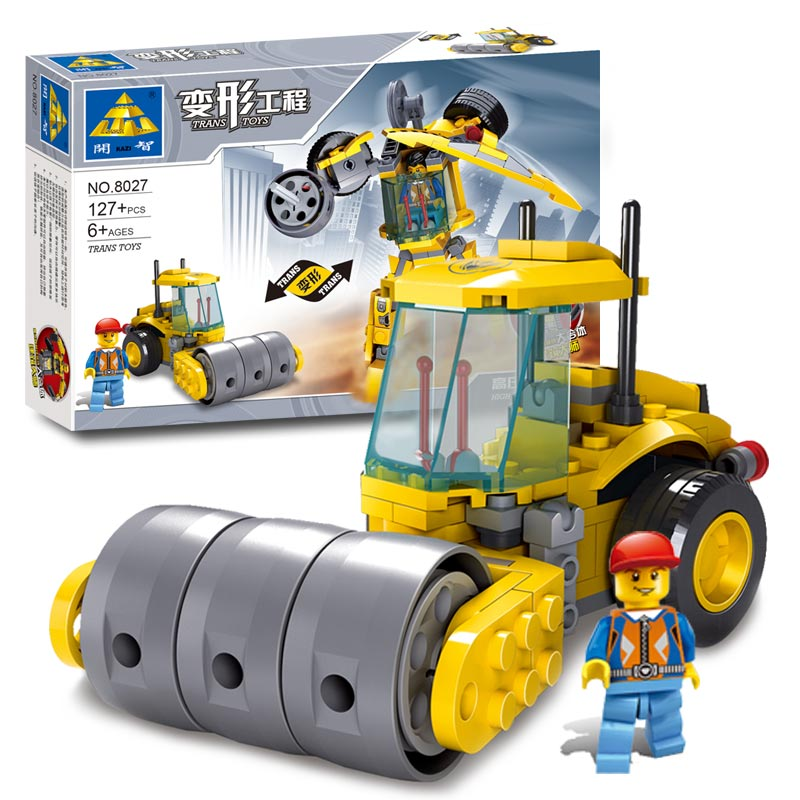 New Childrens Building Blocks Toys Kazi High Pressure Engineering Vehicles Trans Robot Model Assembly Blocks Of Enlightenment<br><br>Aliexpress