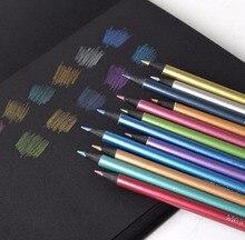 12 шт. металлик карандаш-художник 0.3 мм Декор карандаш Цветной для DIY фотоальбоме, карты решений, черный Бумага, рисунок, раскраска(China)