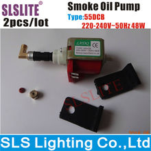 2pcs/lot 3000w smoke machine brass oil pumps smoke/fog machines dedicated micro 48w oil pump accessory for stage light equipment
