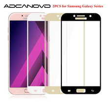 Buy 2PCS Full cover protective glass samsung j5 j7 j3 2017 tempered glass samsung galaxy J2 J5 J7 Prime screen protector film for $2.33 in AliExpress store