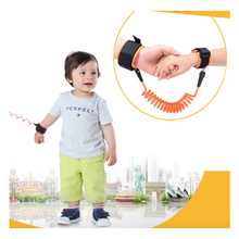 1.5M And 2.5M Kids Baby Toddler Anti-lost Wrist Link Band Children Bracelet Wristband Elastic Harness Safety Leash Strap(China)