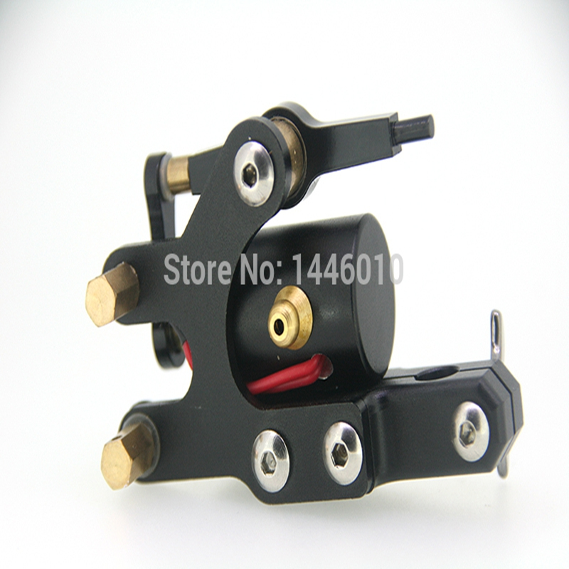 Crazy Tattoo Supply High Quality New CNC Aluminum Balance Rotary Tattoo Machines Black Tattoo Gun Free Shipping<br>