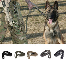 Tactical Dog Leash Military Training Tactical Bungee Leash Combat US Amry Dog Lead Harness Collar Nylon Coyote 5 colors(China)