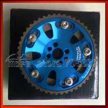 2PCS Pair Aluminum Alloy Adjustable Cam Timing Gear for RB20 / RB25 / RB26 Blue(China)