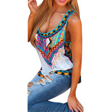 Buy Vest Fashion Women Summer Sexy Vest Sleeveless Tops Casual Embroidery Printing Tank Top Womens Clothing Chiffon Shirt S M L XL for $4.14 in AliExpress store