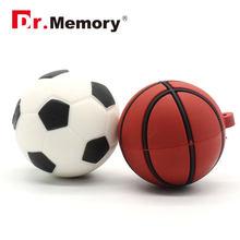 Moda Bonito Mini Modelo USB Flash Drive de Futebol Basquete 128 m Memória  32 16 8 4g g g g I vara Pen Drive de Alta Velocidade U.. 606449ba1b9dd