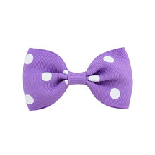 20pcs 7cm Polka Dots Ribbon Hair Bows Kids Girls Clips Hairpins Peach Orange Mint Tan Navy White Black Lalic