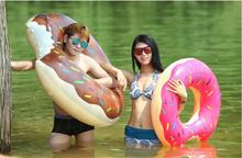 Wholesale Diameter 110cm Inflatable Swim Ring Life Buoy Swimming Ring Swimming Laps(China)