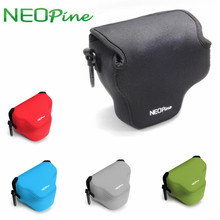 NEOPINE Camera Inner Bags For Canon SX520 Neoprene Soft Pouch Protective Cases Black Red Blue Grey Green Option(China)