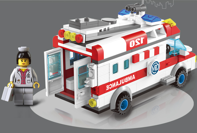 Models-building-toy-Enlighten-1118-Ambulance-Nurse-Doctor-First-Aid-328Pcs-Building-Blocks-compatible-with-lego (5)