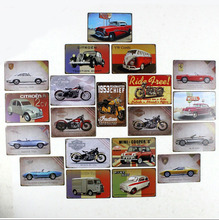 Old car and Moto Vintage metal Tin signs Home wall Art decor Bar metal paintings Club Plaques TP003