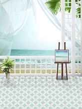 Slate Floor Tiles Sea Curtainsbackdrop Photography Mini Backgrounds Studio Backgrounds Lk -1616(China)