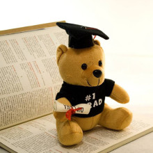 Hot plush doctor bear 1pcs 20cm Dr. Bear learn to read Bear plush toy doll graduation gifts