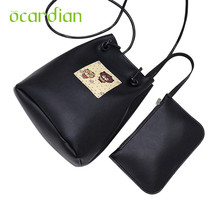 Ocardian Elegance New 2 Bags Women Girl Leather Shoulder Bag Crossbody Clutch Wallet Card Hold Bags 17Jul10 Dropshipping