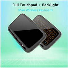H18+2.4GHz mini wireless QWERTY keyboard Full Touchpad Keyboard Large Touch Pad Remote Control for Android TV Box PC Xbox3 PS4(China)