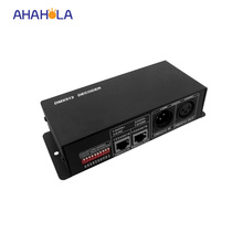 4 channel dmx 512 led dmx decoder dc 12-24v connect dmx module with dmx console to achieve dimming or various changes 4A/channel