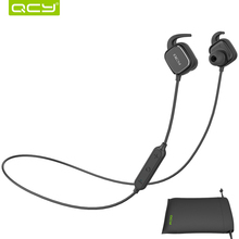 Wireless Bluetooth Headhones Stereo Earphone QCY QY12 Sport Headset with Mic for Xiaomi all Smartphone Magnet Adsorption Earbuds
