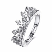 Flower Crown Zircon Ring Engagement Anniversary Free Shipping Fast Logistics