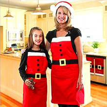 Newest Christmas Decoration Apron Kitchen Aprons Christmas Dinner Party Apron Merry Christmas Dinner Table Party Decoration(China)