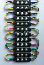 20pcs/lot 5050 RGB 3leds black shell injection led module ,epistar chip,12V,0.75w, RGB led module 2 years warranty,led signs