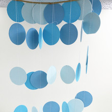 2016 Holiday Party Wedding Room Classroom Decor Wall Decorations Long Paper Garland Ornaments Curtain Wall Pop Disc 2m
