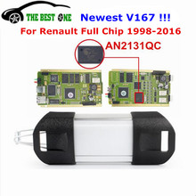 Newest V167 AN2131QC Gold PCB For Renault Can Clip Full Chip V165 Update Diagnostic Interface Scanner Multi-Functions&Languages