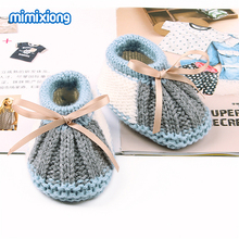 Handmade Newborn Baby Knitted First Walkers Booties Spring Autumn Infant Boys Girls Crochet Shoes Winter Warm Toddler Crib Boots(China)