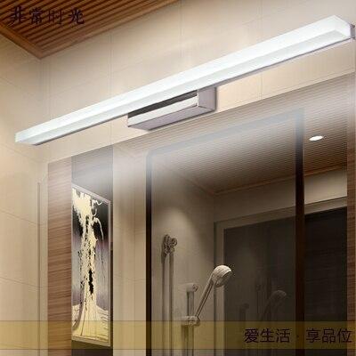 Spaarlamp spiegel lampen led badkamer moderne rvs spiegelkast ...
