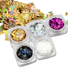 1g/box Butterfly Shape Nail Flakes Paillette 3d Laser Glitter Bow Tie Sequin Nail Art Decorations DIY Beauty Tips HD01-05