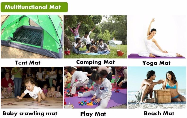 Colors Outdoor Folding XPE Waterproof Camping Picnic Cushion Foam Beach Mat 35g