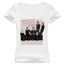 One Direction 2017 Plus Size Women Clothing New Fashion T-shirt with Casual Loose T-shirt Big Large Size WT156(China)