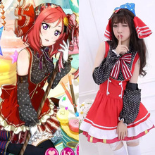 2016 love live cosplay candy costume Lovely cos Nishikino Maki clothing dress ACG547(China)