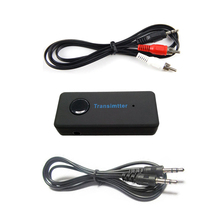 2017 Wireless Bluetooth 3.0 3.5mm Stereo Audio Cable Music Audio Bluetooth Transmitter Receiver Sender Adapter for TV(China)