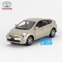 Free Shipping/1:34 Scale/Toyota Prius/Educational Model/Pull back Diecast Metal toy car/For Collection or Children's Gift