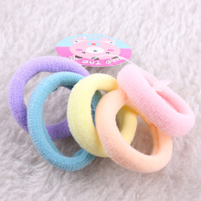 5pcs/lot Little Girls Children Solid Elastic Hair Band Soft Rubber Band Protect The Hair Stretch Hair Tie Hair Accessories