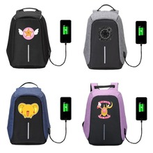 Buy Anti-theft Backpack USB Charging backpack men women Laptop Travel Bag Schoolbag Waterproof anime Cardcaptor Sakura 16 style for $32.98 in AliExpress store