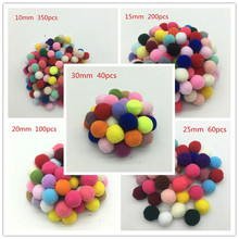 Buy 1015 20 25 30mm,mix Color Pompom Fluffy Plush Cloth Craft DIY Soft Pon Pom Pon Poms Ball Furball Home Decor Sewing Supplies Craf for $1.41 in AliExpress store