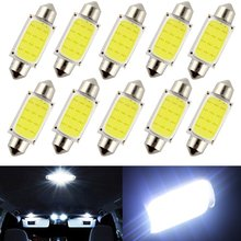 10pcs/lot 31mm 36mm 39mm 41mm Car COB 1.5W DC12V Interior Car LED Bulbs Lamp Interior Dome Lights Plate lamps Bulb(China)