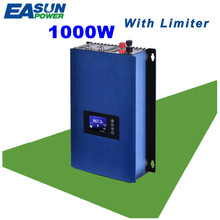 EASUN POWER 1000W Grid Tie Inverter With Limiter MPPT Solar Power inverter DC 22-65V/45-90V AC 100V 110V 120V 220V 230V 240V(China)