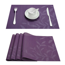 Set of 4 PVC Flower Pattern Placemats for Dining Table Runner Linens place mat in Kitchen Accessories Cup Wine mat(China)