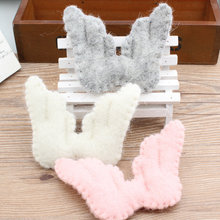 New 10pcs/lot Solid color 3D Cartoon Angel wings Shape Handmade Wools Felt Bolls Diy Jewelry Garments/brooch/Hair decoration