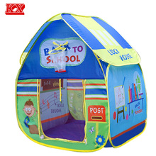 Kids Foldable Play Houses Baby Cute and Fun School Outdoor Toy Tent Lodge Wigwam Outdoor Games For Children D52(China)