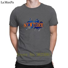 Knitted Original Tee Shirt New York Worn T-Shirt Great Hiphop Tops T Shirt Man Spring Autumn Tee Shirt For Men O Neck Comical(China)