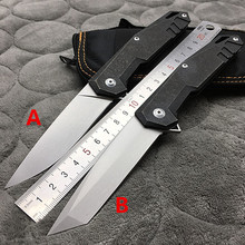 New tactical folding knife D2 blade TC4 Titanium handle Flipper camping survival pocket knife utility outdoor EDC hand tools