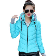 Winter Fashion Jacket Women Thicken Outerwear Coat Women Down Coats Short Slim Design Cotton-padded CC005