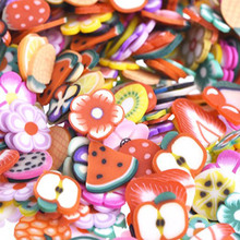 1000pcs/pack 3D Nail Art Fruit Fimo Slices Polymer Clay DIY Slice Decoration Nail Sticker Nail Jewelry Wholesale(China)