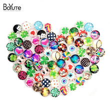 70Pcs Kawaii Cabochons 10m Round Flag Cartoon Clock Comics Image Mix Glass Cabochon Findings XL4965