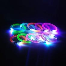 Blinking Beam LED Bracelet Bachelorette Party Decoration Light Up Acrylic Wristband Rave Bangle Wear Party Supplies