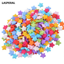 LASPERAL 500PCs Candy Color Acrylic Beads For DIY Bracelets Necklaces Random Mixed Five-Pointed Star Beads Fit DIY Craft Jewelry(China)