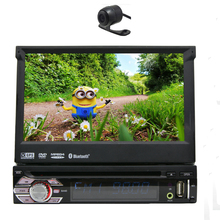 Single din FM Music Steering Wheel 1din 3D Map GPS Stereo SD System Head Unit RDS Car DVD Player AMP Auto Radio Autoradio+camera